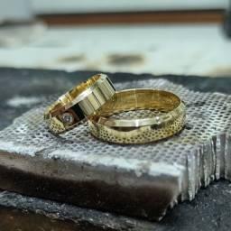 Aliança em Ouro 18k (Noivado ou Casamento); ??