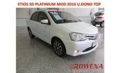 Título do anúncio: Etios Sedan Platinium 1.5 Mod 2016 Top Unico Dono