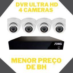 Kit dvr 4 câmera de segurança (barato)