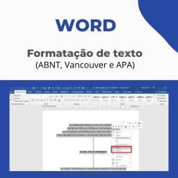Título do anúncio: Vitória - Word (formatação e revisão ABNT) - Excel (planilhas) - PPT (Apresentações)