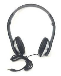 Fone De Ouvido Estéreo Arco Com Fio Microfone Entrada P2 - 8104