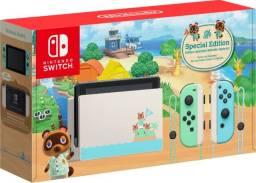 Nintendo Switch 32gb Animal Crossing Verde E Azul Pastel