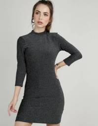 Vestido lurex feminino