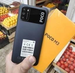 Celular Xiaomi Poco M3 - 128GB ou 64GB Rom / 4GB Ram - Versão Global + Capinha e Película