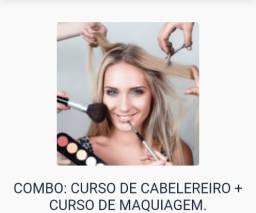 Título do anúncio: Curso de maquiagem+cabeleireiro