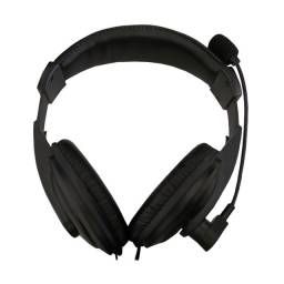 Fone de ouvido Headset K-Mex Microfone s/ logo Preto
