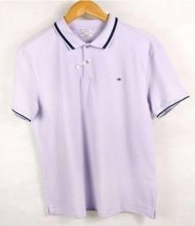 camisa polo calvin klein lilás masculina