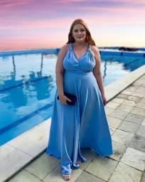 Título do anúncio: PROMOÇÃO vestido multiformas madrinha formatura festa azul serenity plus size 52/54