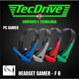 Fone De Ouvido Headset C/ Microfone Tecdrive Gamer F6 Voip