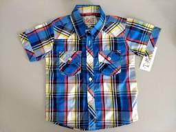 Camisa xadrez infantil importada (Nova e com tag)