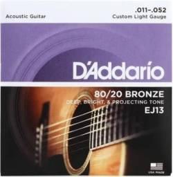 Encordoamento / cordas Daddario para violão Aço 011