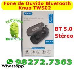 Fone De Ouvido Bluetooth Sem Fio - Tws-02 Knup - Preto