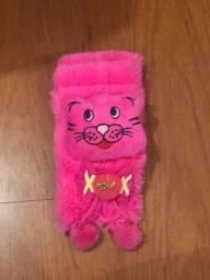 Cachecol Gatinho Love Infantil Rosa Pink