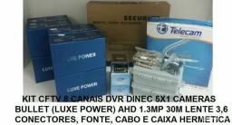 Kit camera em hd 4 e 8 canais