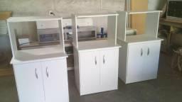 Balcao 02 portas em MDF para forno e microondas R$ 210,00