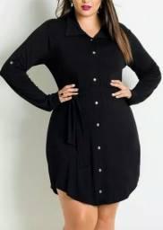 Vestido chemisier preto ?