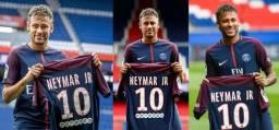 Conjunto Camisa e Calção do PSG Personalizada como Nome Neymar Jr 10 - Nova