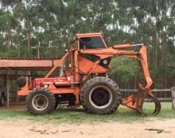 Carregadeira motocana cana madeira trator Massey Ferguson