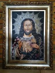 Quadro cusquenho de Jesus, uma linda obra