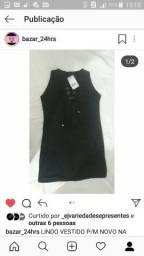 Troco vestido aveludado p/M