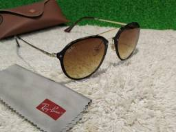 7bd234cd8ec30 Óculos Ray Ban Double Bridge Blaze marrom