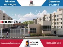 Jardim de Nápoli, Feirão Escudo. Apartamento com 2 quartos na estrada da maioba