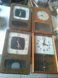 Relógios de pêndulo parede antigos decoração antiguidades