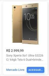 Sony xperia xa1 ultra dourado ( troco por tv smart)