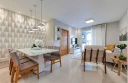 Boqueirão - Lazer Total, sala 2 ambientes, lavabo, 2 dormitórios, 2 suítes e 1 vaga