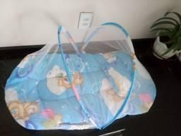 Acolchoado portátil para bebê com mosquiteiro (ninho)