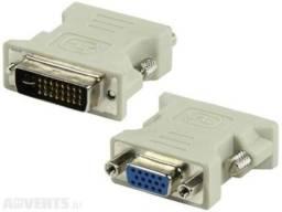 Adaptador Dvi-I (Dual Link) Macho Para VGA Fêmea