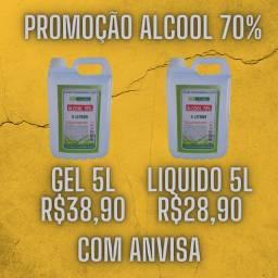 Alcool 70% Gel R$38,90 Liquido R$28,90