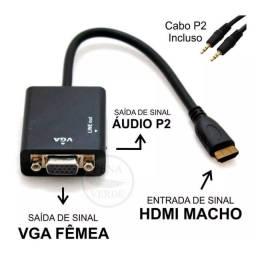 Conversor hdmi x vga com audio knup kp-3468