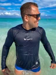 Camisa UV Manga Longa Com Protecão Solar 50+ de Poliamida Masculinas e Femininas