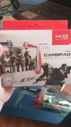 Gamepad com botão gatilho