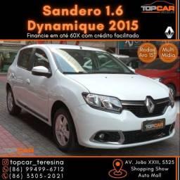 Título do anúncio: Sandero Dynamique 1.6 2015