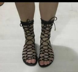 Título do anúncio: Sandália rasteira preta