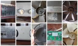 Título do anúncio: Pecas Ar Condicionado Acj Palheta Turbina Eixo Fino Termostato Motor Ventilador Capacitor