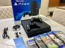 PS4 Pro 1TB + 2 controles originais e mídias físicas