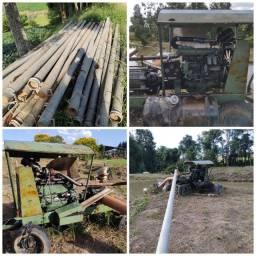 Motor e tubos Irrigação