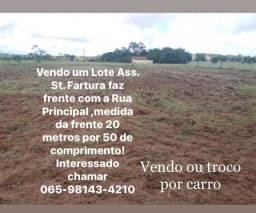 Título do anúncio: Lote faz frente pra Rua Principal  do assentamento  Santo António da Fartura