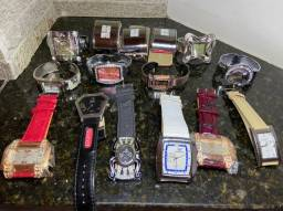15 Relógios Diversos - marcas Gucci / Boss / Channel / D&G e outros