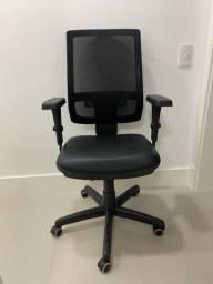 Cadeira Para Escritório Presidente Brizza Plaxmetal Preto Seminova
