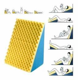 Encosto Suave Travesseiro Triangular + Capa Lavável Almofada Anti Varizes Anti Refluxo