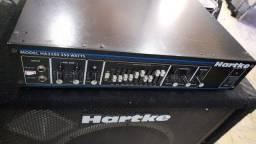Cabeçote Hartke Ha 3500 e caixa Hartke Vx115 na Musical Brother