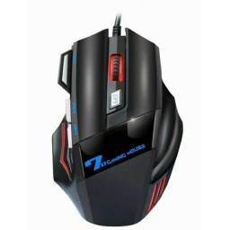 Mouse Gamer Jogos Laser X11 3600dpi Usb Com Fio Led 7 Botões Iluminado