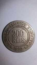 Moeda de 200 Réis do Brasil