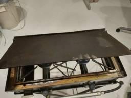 Churrasqueira de chapa e fogão a gaz 50 x 30