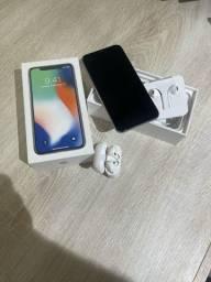 IPhone X 256 GB e AirPods I