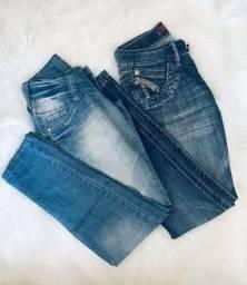 Título do anúncio: 2 Calças Jeans feminina Leporello TAM: 36